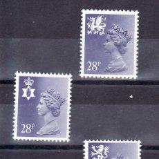 Sellos: GRAN BRETAÑA 1088A/90A SIN CHARNELA, ISABEL II, REGIONALES, . Lote 20357622