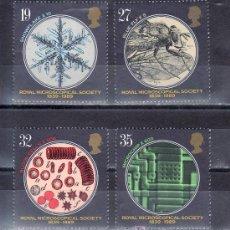 Sellos: GRAN BRETAÑA 1396/9 SIN CHARNELA, 150º ANIVERSARIO DE LA REAL SOCIEDAD MICROSCOPIA. Lote 20561680