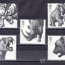 Sellos: GRAN BRETAÑA 2737/41 SIN CHARNELA, FAUNA, ANIMALES DE LA EPOCA GLACIAL. Lote 20725052