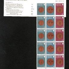 Sellos: GRAN BRETAÑA-GUERNESEY 176 CARNET COMPUESTO POR (176(5), 171(5), 180(5)) SIN CHARNELA, MONEDAS. Lote 23168574