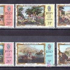Sellos: GRAN BRETAÑA-JERSEY 328/33 SIN CHARNELA, PINTURA DE JOHN ALEXANDER GILFILLAN. Lote 24982892