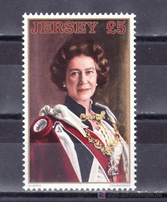 GRAN BRETAÑA-JERSEY 307 SIN CHARNELA, ISABEL II RETRATO DE NORMAN HEPPLE (Sellos - Extranjero - Europa - Gran Bretaña)