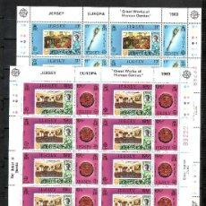Sellos: GRAN BRETAÑA-JERSEY 293/6 MINIPLIEGO SIN CHARNELA, TEMA EUROPA, GRANDES OBRAS DE LA HUMANIDAD. Lote 20798082