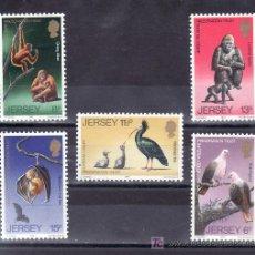 Sellos: GRAN BRETAÑA-JERSEY 201/5 SIN CHARNELA, FAUNA, AVES, PAJAROS, PROTECCION DE LOS ANIMALES SILVESTRES. Lote 20798798