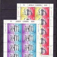 Sellos: GRAN BRETAÑA-JERSEY 188/91 MINIPLIEGO SIN CHARNELA, TEMA EUROPA, HISTORIA DEL CORREO. Lote 20798858