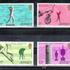 Sellos: GRAN BRETAÑA-JERSEY 167/70 SIN CHARNELA, DEPORTE, CENTENARIO DEL REAL CLUB DE GOLF DE JERSEY. Lote 20798969