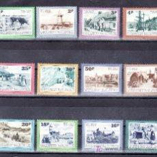 Sellos: GRAN BRETAÑA-GUERNESEY TASA 30/41 SIN CHARNELA, VISTAS DE GUERNESEY EN POSTALES ANTIGUAS. Lote 22146794