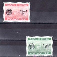 Sellos: GRAN BRETAÑA-GUERNESEY TASA 28/9 SIN CHARNELA, VISTAS. Lote 20991037