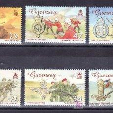 Sellos: GRAN BRETAÑA-GUERNESEY 1079/84 SIN CHARNELA, MEDALLAS, 150 ANIVº VICTORIA CROSS, FUERZAS ARMADAS. Lote 22146795