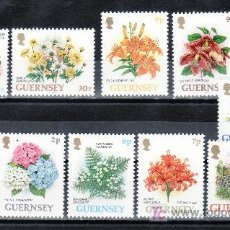 Sellos: GRAN BRETAÑA-GUERNESEY 605/14 SIN CHARNELA, FLORES DE GUERNESEY. Lote 21018677