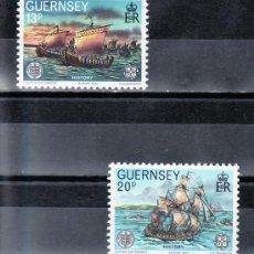 Sellos: GRAN BRETAÑA-GUERNESEY 248/9 SIN CHARNELA, TEMA EUROPA, HECHOS HISTORICOS,. Lote 21061571