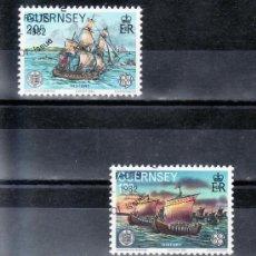 Sellos: GRAN BRETAÑA-GUERNESEY 248/9 USADA, TEMA EUROPA, HECHOS HISTORICOS,. Lote 21061589