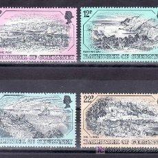 Sellos: GRAN BRETAÑA-GUERNESEY 243/6 SIN CHARNELA, GRABADOS ANTIGUOS DE GUERNESEY. Lote 21061606