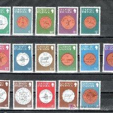 Sellos: GRAN BRETAÑA-GUERNESEY 168/83 SIN CHARNELA, MONEDAS CONMEMORATIVAS 1830/1977. Lote 21099281