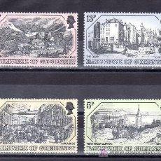 Sellos: GRAN BRETAÑA-GUERNESEY 152/5 SIN CHARNELA, VISTAS DE GUENESEY, GRABADOS ANTIGUOS,. Lote 21099512