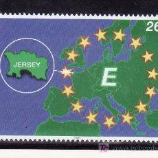 Sellos: GRAN BRETAÑA-JERSEY 921 SIN CHARNELA, JERSEY EN EUROPA,. Lote 20793949