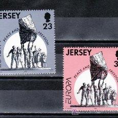 Sellos: GRAN BRETAÑA-JERSEY 687/8 SIN CHARNELA, TEMA EUROPA, PAZ Y LIBERTAD,. Lote 20794537