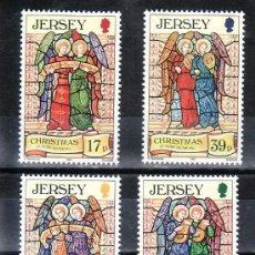 Sellos: GRAN BRETAÑA-JERSEY 629/62 SIN CHARNELA, NAVIDAD, ANGELES DE JERSEY. Lote 27356369