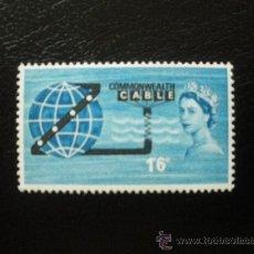 Sellos: GRAN BRETAÑA 1963 IVERT 381 *** INAUGURACIÓN CABLE TRANSOCEANICO - COMPAC. Lote 22128222