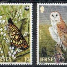 Sellos: JERSEY AÑO 1989 YV 470/73*** WWF PROTECCIÓN DE LA FAUNA - AVES - REPTILES - INSECTOS - NATURALEZA. Lote 26143476