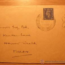 Sellos: SOBRE Y TARJETA LONDON INTERNATIONAL STAMP EXHIBITION 1950 JORGE VI. Lote 22550443