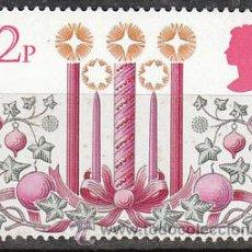 Sellos: INGLATERRA IVERT 960, NAVIDAD 1980, DECORACIONES: VELAS E HIEDRA CON CINTAS, NUEVO. Lote 24313962