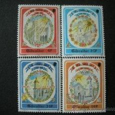 Sellos: GIBRALTAR 1992 IVERT 659/62 *** NAVIDAD - IGLESIAS DE GIBRALTAR - MONUMENTOS. Lote 25609772