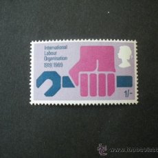 Selos: GRAN BRETAÑA 1969 IVERT 561 *** 50º ANIVERSARIO DE LA ORGANIZACIÓN INTERNACIONAL DEL TRABAJO. Lote 26395258