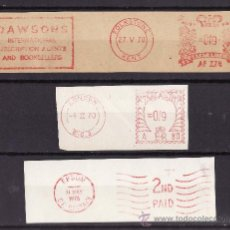 Sellos: FRANQUEO MECANICO LOTE DE TRES FRAGMENTOS 1970-1976 PRENSA EDITORIALES. Lote 26733322