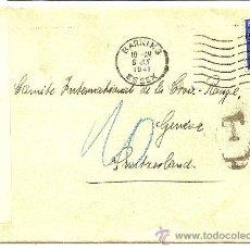 Sellos: SOBRE CENSURA MILITAR SEGUNDA GUERRA MUNDIAL DE INGLATERRA A SUIZA - AÑO 1941 - CRUZ ROJA INTERNACIO. Lote 28650143