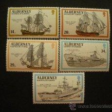 Sellos: ALDERNEY 1990 IVERT 43/7 *** BARCOS LLAMADOS ALDERNEY TRAVÉS DE LOS SIGLOS. Lote 28930604