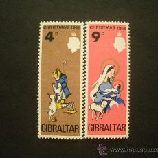 Sellos: GIBRALTAR 1968 IVERT 215/6 *** NAVIDAD. Lote 30015008