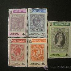 Sellos: GIBRALTAR 1986 IVERT 515/9 *** CENTENARIO DEL SELLO DE GIBRALTAR . Lote 35576756