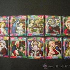Sellos: GUERNESEY 2005 IVERT 1069/78 *** NAVIDAD - VIDRIERAS RELIGIOSAS. Lote 31309893