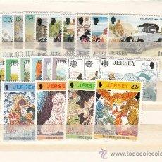 Sellos: GRAN BRETAÑA-JERSEY 562/7, 572/88 SIN CHARNELA, AÑO 1992 VALOR CAT 37.00 € +. Lote 33125360