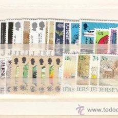Sellos: GRAN BRETAÑA-JERSEY 419/50 SIN CHARNELA, AÑO 1988 VALOR CAT 49.75 € +. Lote 33125385