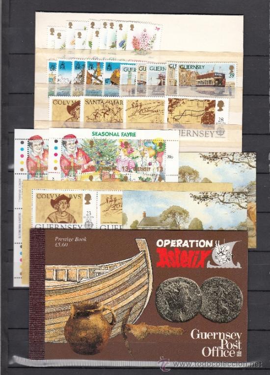 GRAN BRETAÑA-GUERNESEY 560/96, HB15/6,HB18/22 SIN CHARNELA, AÑO 1992 VALOR CAT 92.10 € + (Sellos - Extranjero - Europa - Gran Bretaña)