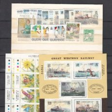 Sellos: GRAN BRETAÑA-GUERNESEY 450/83, HB 9/10 SIN CHARNELA, AÑO 1989 VALOR CAT 56.70 € +. Lote 33125613