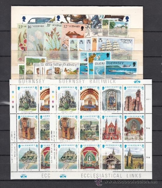GRAN BRETAÑA-GUERNESEY 412/49, 418A/B, HB 8 SIN CHARNELA, AÑO 1988 VALOR CAT 51.45 € + (Sellos - Extranjero - Europa - Gran Bretaña)