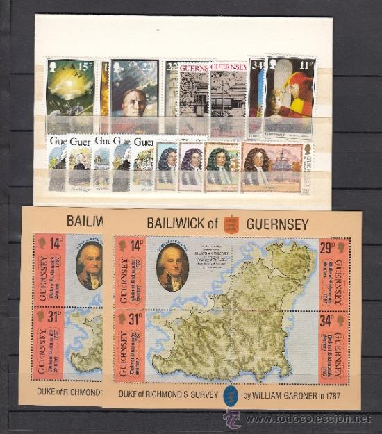 GRAN BRETAÑA-GUERNESEY 387/94, 397/411, HB 7 SIN CHARNELA, AÑO 1987 VALOR CAT 41.75 € + (Sellos - Extranjero - Europa - Gran Bretaña)