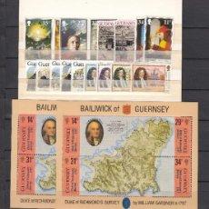 Sellos: GRAN BRETAÑA-GUERNESEY 387/94, 397/411, HB 7 SIN CHARNELA, AÑO 1987 VALOR CAT 41.75 € +. Lote 33135585