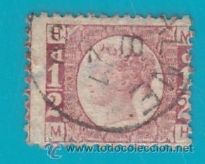 SELLO DE GRAN BRETAÑA 1870, HALF PENNY, NUMERO DE PLACA 20, SG49 (Sellos - Extranjero - Europa - Gran Bretaña)
