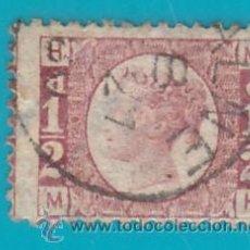 Sellos: SELLO DE GRAN BRETAÑA 1870, HALF PENNY, NUMERO DE PLACA 20, SG49. Lote 34915439