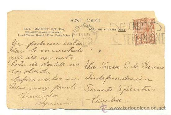 SELLO POSTAGE REVENUE THREE HALFPENCE .. POSTAL R M L MAJESTIC (DEFECTUOSA) 1932 (Sellos - Extranjero - Europa - Gran Bretaña)