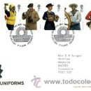 Sellos: GRAN BRETAÑA 2009 UNIFORMES DE LA MARINA BRITÁNICA FDC SG 2964-69 IT 3183-88. Lote 38279825