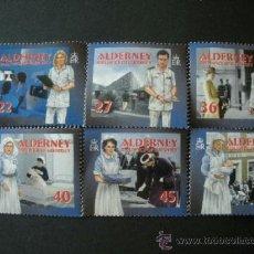Sellos: ALDERNEY 2001 IVERT 168/73 *** SERVICIOS DE SALUD (I). Lote 39158605