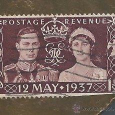 Sellos: SELLO 1937 JORGE VI Y REINA POSTAGE REVENUE V. Lote 40150469
