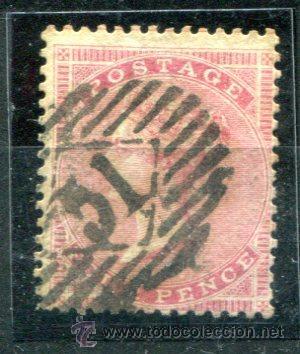 YVERT 18 DE INGLATERRA. FOUR PENCE, AÑOS 1855-1857. MATASELLADO. (Sellos - Extranjero - Europa - Gran Bretaña)