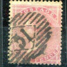 Sellos: YVERT 18 DE INGLATERRA. FOUR PENCE, AÑOS 1855-1857. MATASELLADO. . Lote 41219156