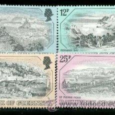 Sellos: GUERNESEY. 243/46 GRABADOS ANTIGUOS DE VISTAS DE LA ISLA**. 1982. SELLOS NUEVOS Y NUMERACIÓN YVERT.. Lote 43133576